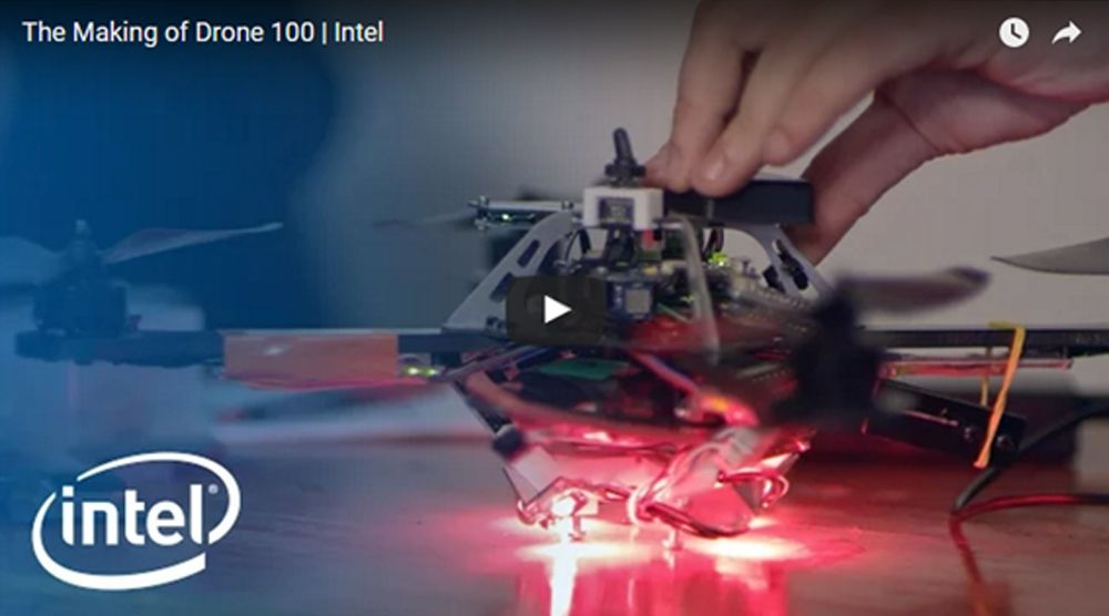 """One of the 100 """"dancing"""" drones. © Intel"""