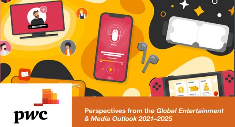 From 0.1trn global Entertainment and Media revenues shrink in 2020 to 5% annual growth in the 2021-2025 period, forecast PwC