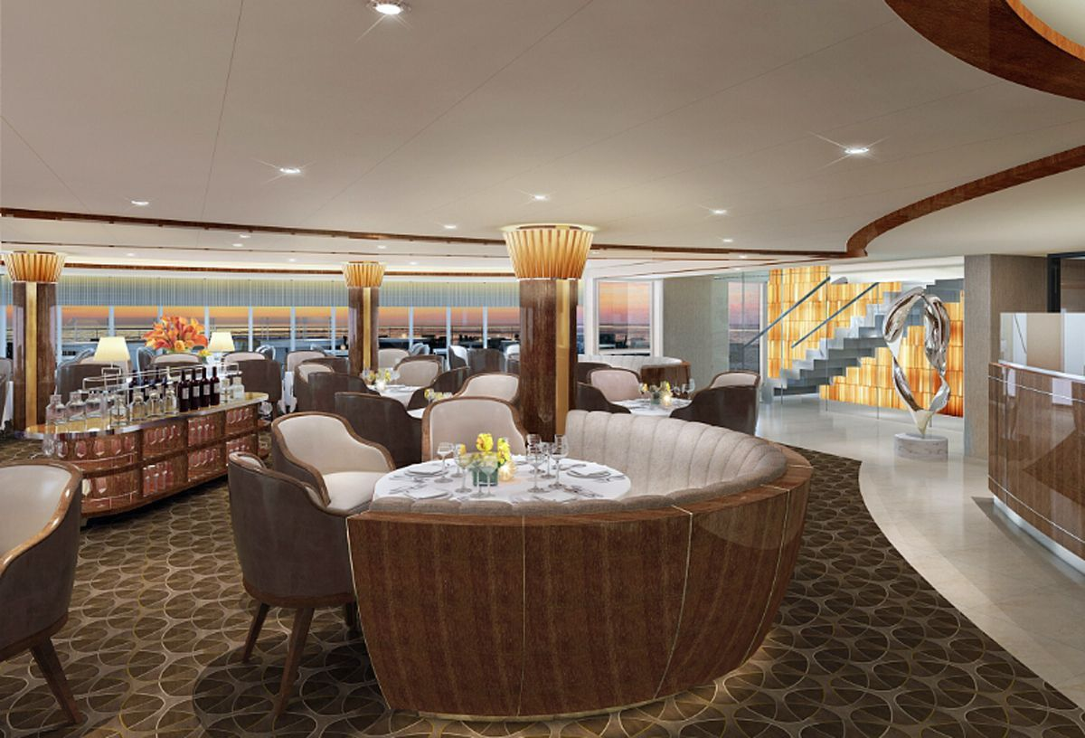 Rendering of New Signature Restaurant, The Grill by Thomas Keller, aboard Seabourn Encore (PRNewsFoto/Seabourn)