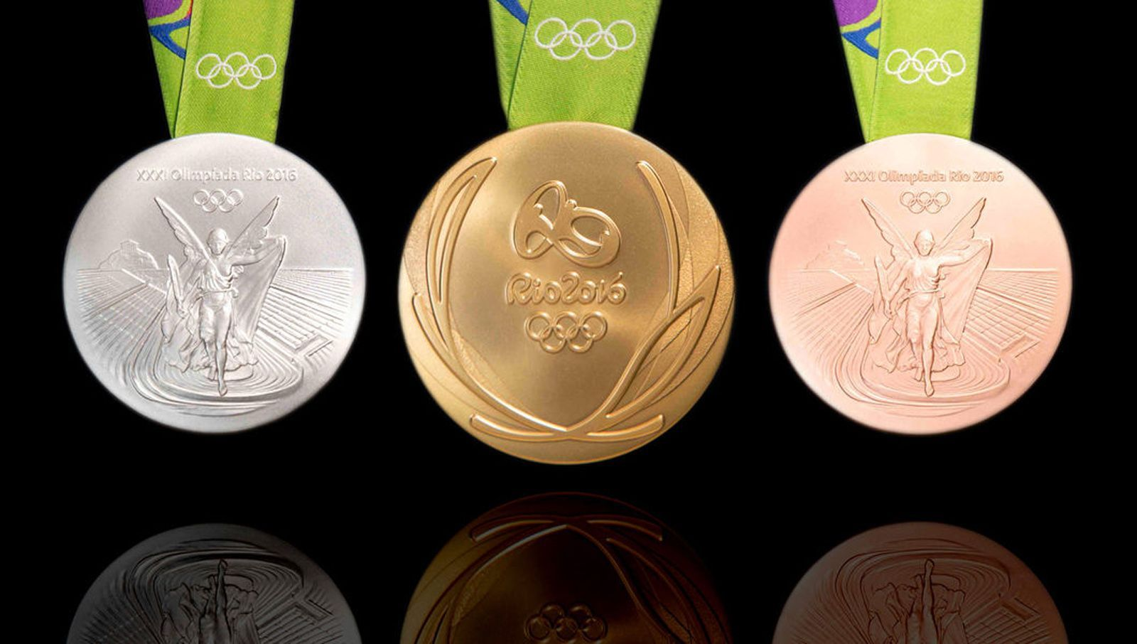 Olympic medals Rio 2016. © IOC.
