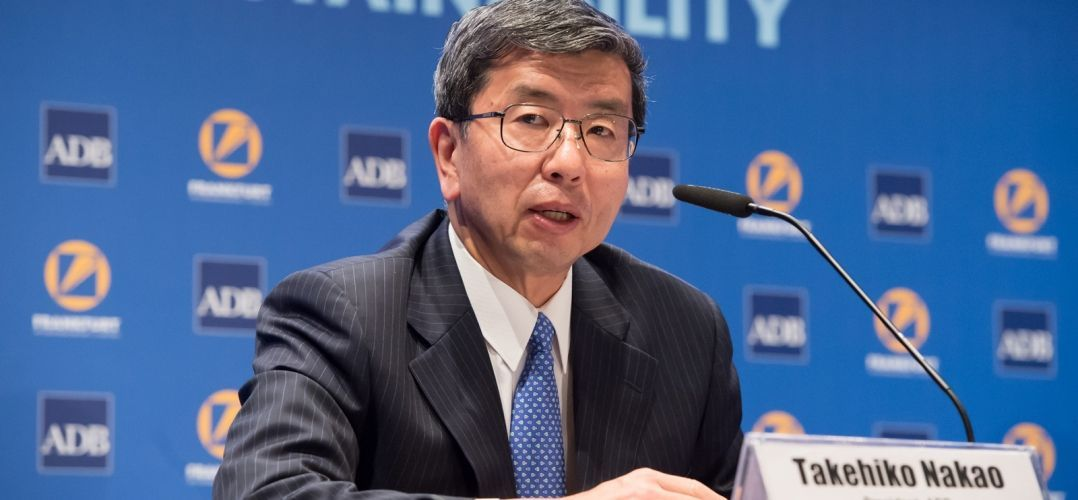 2 May 2016. ADB President Takehiko Nakao answers questions from the international media at the opening press conference of the 49th Annual Meeting of the ADB Board of Governors in Frankfurt, Germany.© ADB.