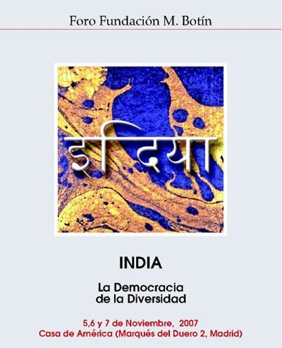 Illustration from the programme of Indian Forum 2007 `The Democracy of the Diversity´