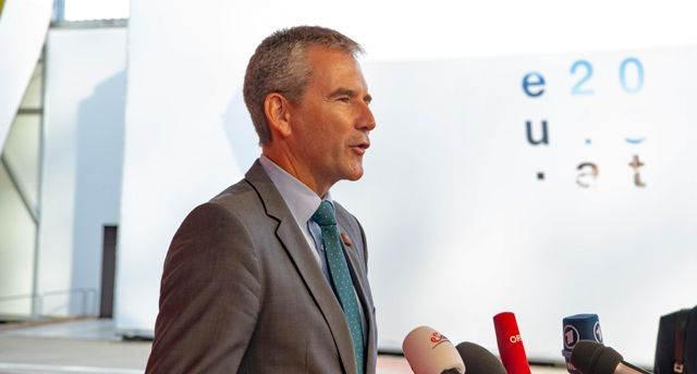 Austria Federal Minister of Finance Hartwig Löger at the informal meeting of economic and financial affairs ministers bein held on 7th and 8th September 2018 in Vienna. Photo © BMF/Wilke