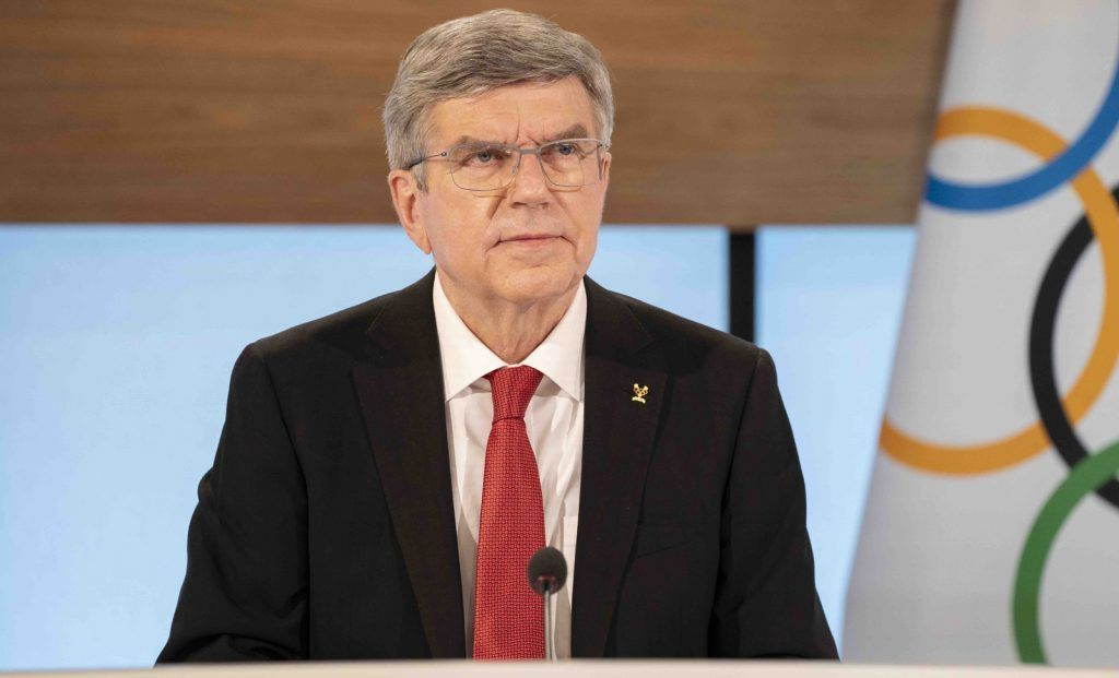 Thomas Bach opens the 137th IOC Session in Lausanne at Olympic House. Greg Martin/IOC